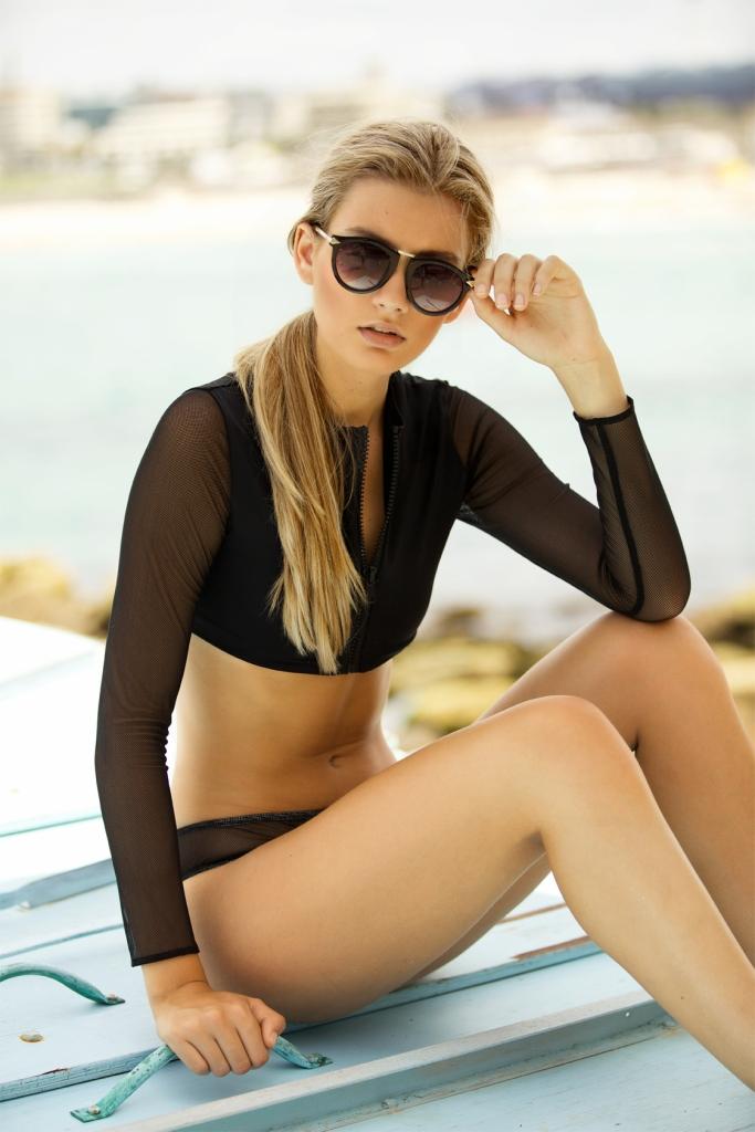 Fashion model Rhyme Lara