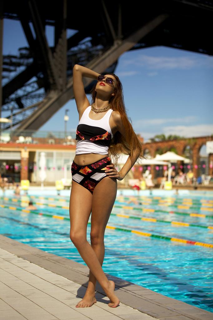 Fashion model Alexis Lazberger